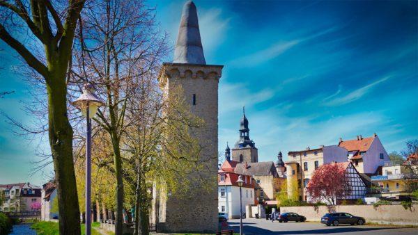 """Hettstedt - Stadtmauer Turm """"Kunstzuckerhut"""""""